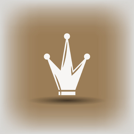 Pictograph of crown. Vector concept illustration for design.