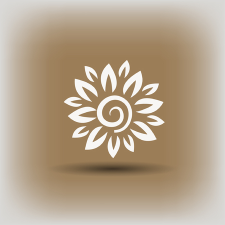 Pictograph of flower. Vector concept illustration for design.