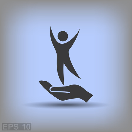 Pictograph of success people. Vector concept illustration for design.