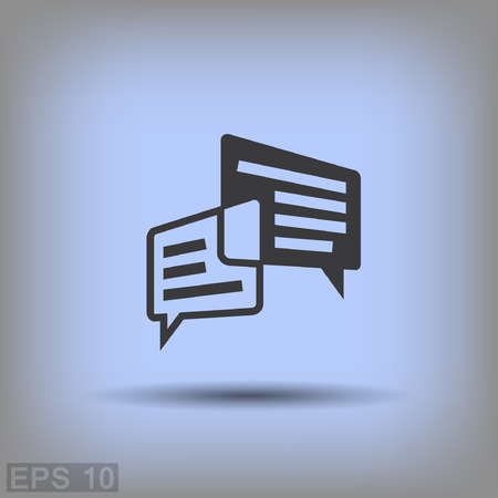 internet icon: Pictograph of message or chat. Vector concept illustration for design. Illustration