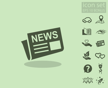 reportage: News icon. Vector concept illustration for design. Illustration