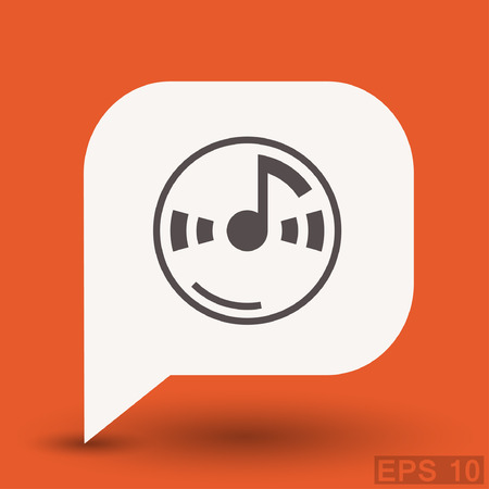 cd label: Pictograph of music note. Vector concept illustration for design. Eps 10