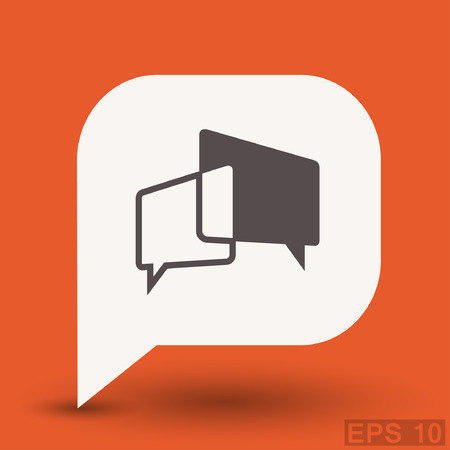 Pictograph of message or chat. Vector concept illustration for design. Eps 10 Illustration