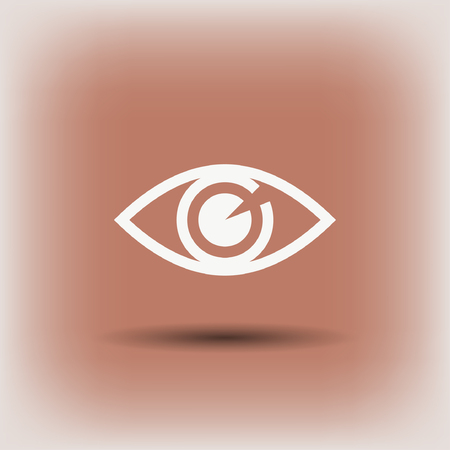 Pictograph of eye. Vector concept illustration for design. Eps 10