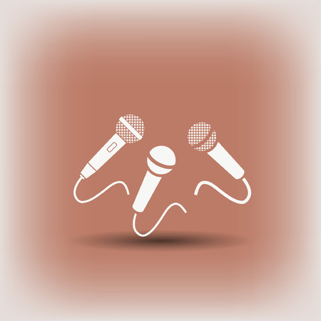 eps vector icon: Microphone icon. Vector concept illustration for design. Eps 10