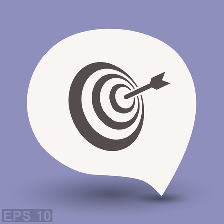 Pictograph of target. Vector concept illustration for design. Eps 10