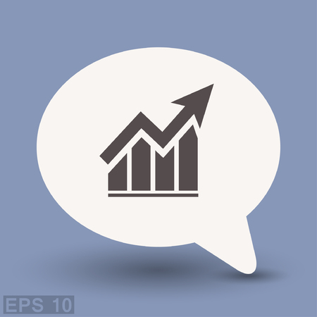 eps: Pictograph of graph. Vector concept illustration for design. Eps 10