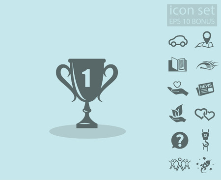 Pictograph of champions cup. Vector concept illustration for design. Eps 10