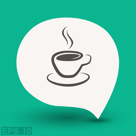 Pictograph of cup. Vector concept illustration for design.