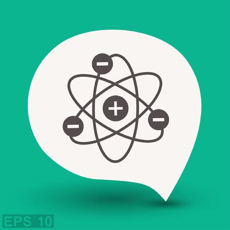 ellipse: Pictograph of atom. Vector concept illustration for design.