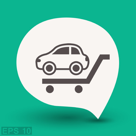 sedan: Pictograph of car. Vector concept illustration for design. Illustration