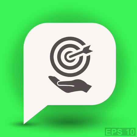 shooting at goal: Pictograph of target. Vector concept illustration for design. Eps 10