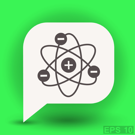 Pictograph of atom. Vector concept illustration for design. Eps 10 Illustration