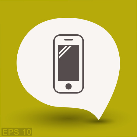 Pictograph of mobile. Vector concept illustration for design. Eps 10