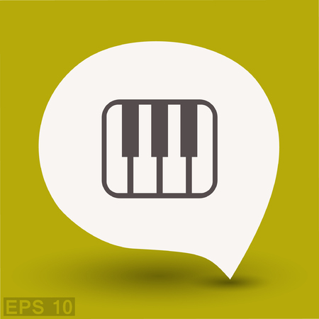 Pictograph of music keyboard. Vector concept illustration for design. Eps 10