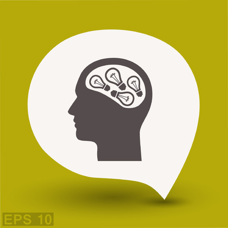 eps: Pictograph of bulb concept. Vector concept illustration for design. Eps 10