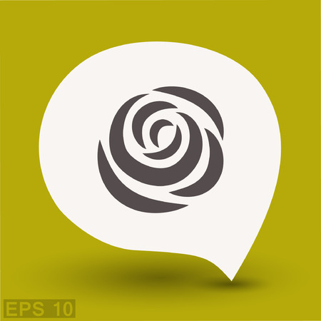 rose petals: Pictograph of rose. Vector concept illustration for design. Eps 10 Illustration