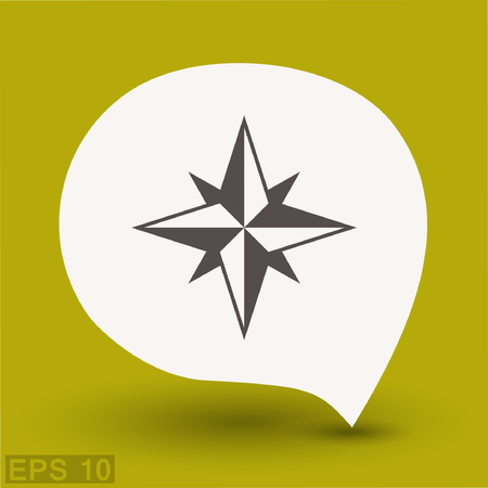 eps: Pictograph of compass. Vector concept illustration for design. Eps 10