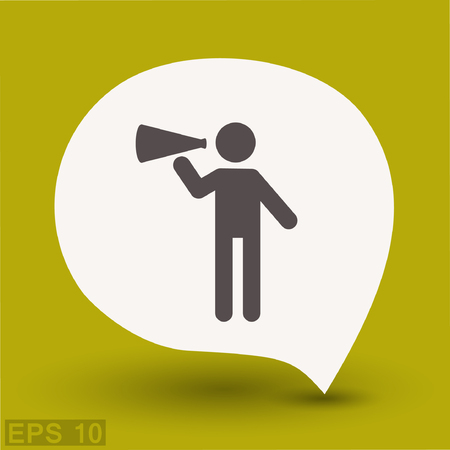 Pictograph of advertising. Vector concept illustration for design. Eps 10
