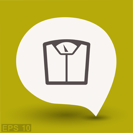 Pictograph of bathroom scale. Vector concept illustration for design. Eps 10