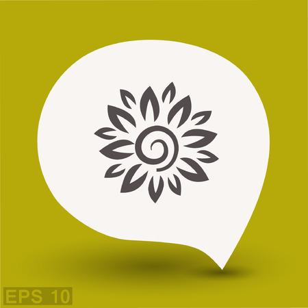 eps: Pictograph of flower. Vector concept illustration for design. Eps 10