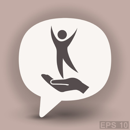 Pictograph of success people. Vector concept illustration for design. Eps 10