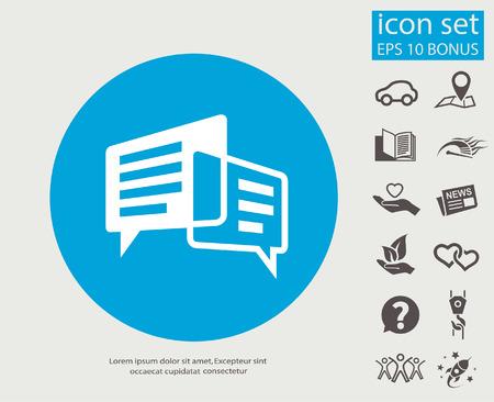 Pittogramma di messaggio o chat. Illustrazione vettoriale concetto per il design.