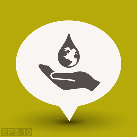 Pictograph of eco. Vector concept illustration for design.