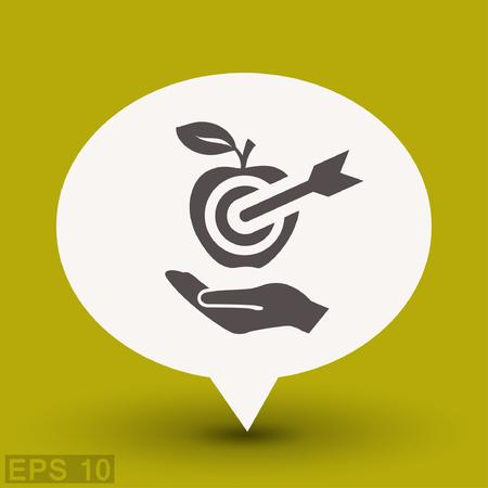 Pictograph of target. Vector concept illustration for design. Illustration