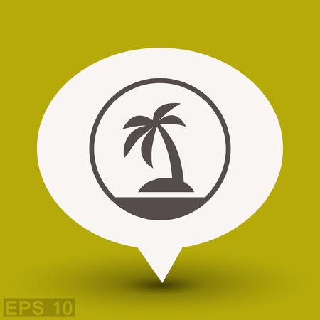 Pictograph of island. Vector concept illustration for design. Illustration