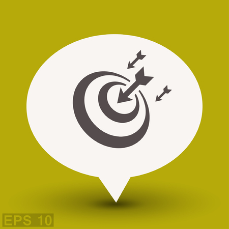 shooting at goal: Pictograph of target. Vector concept illustration for design. Illustration