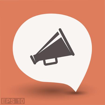 Pictograph of megaphone. Vector concept illustration for design. Eps 10