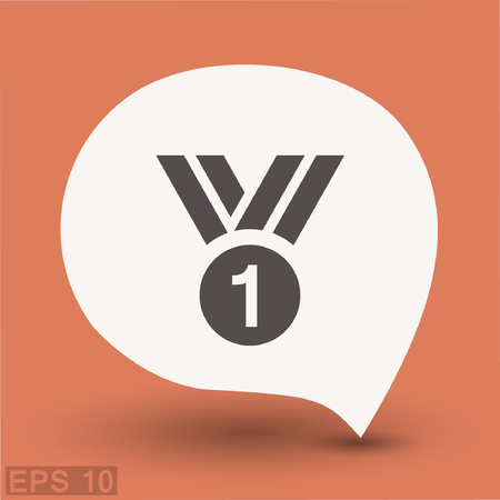 approval icon: Pictograph of award. Vector concept illustration for design. Eps 10