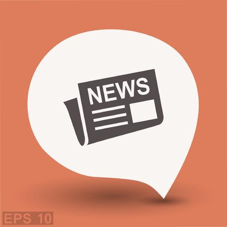 News icon. Vector concept illustration for design. Eps 10