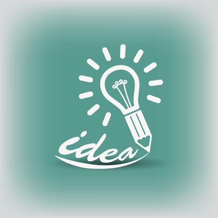 energysaving: Pictograph of light bulb. Vector concept illustration for design.