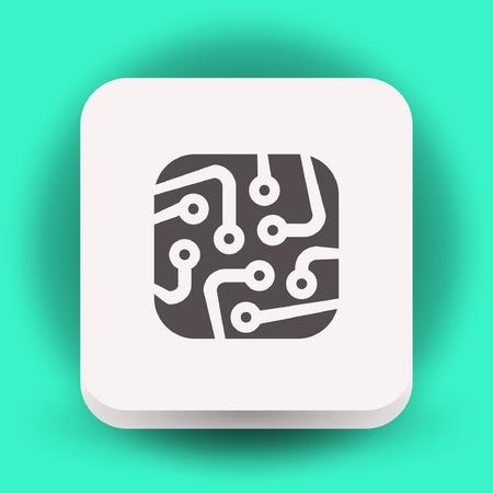 circuitboard: Pictograph of circuit board. Vector concept illustration for design.