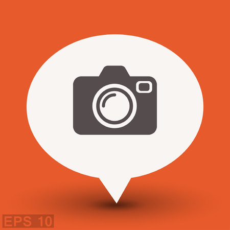 photography equipment: Pictograph of camera. Vector concept illustration for design. Illustration