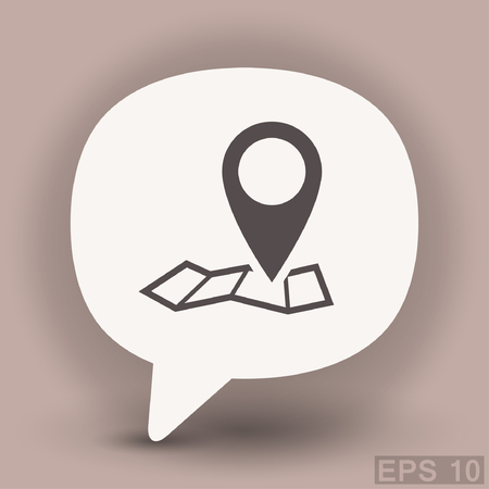 road position: Pin on the map. Vector icon. Vector concept illustration for design. Eps 10