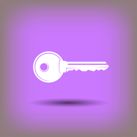 close account: Pictograph of key. Vector concept illustration for design.