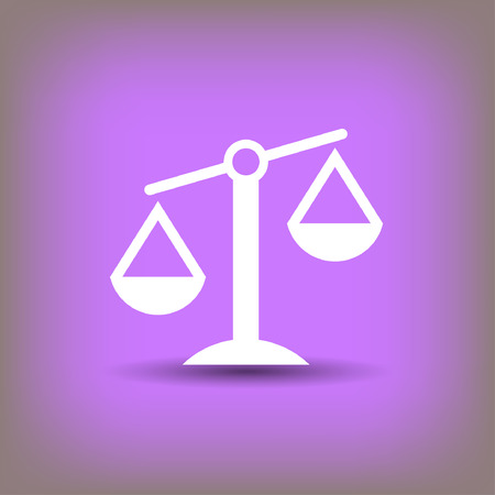 Pictograph of justice scales. Vector concept illustration for design.