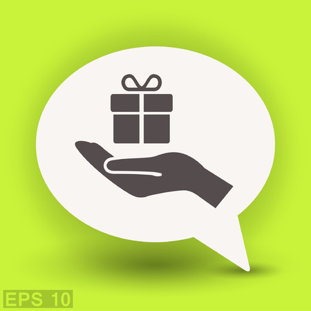 Pictograph of gift. Vector concept illustration for design.