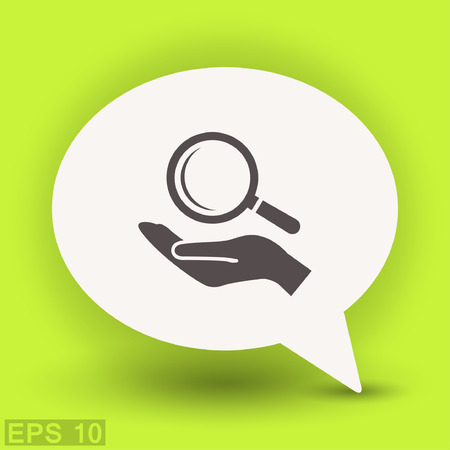 Pictograph of search. Vector concept illustration for design. Illustration