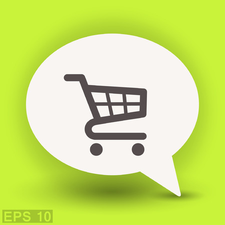 add to cart: Pictograph of shopping cart. Vector concept illustration for design. Eps 10