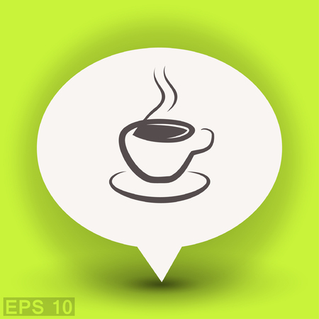caffeine: Pictograph of cup. Vector concept illustration for design.