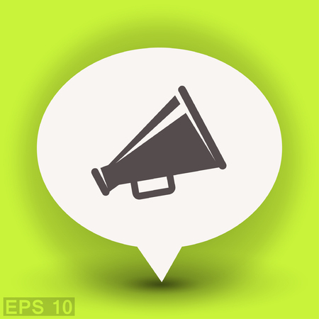Pictograph of megaphone. Vector concept illustration for design.