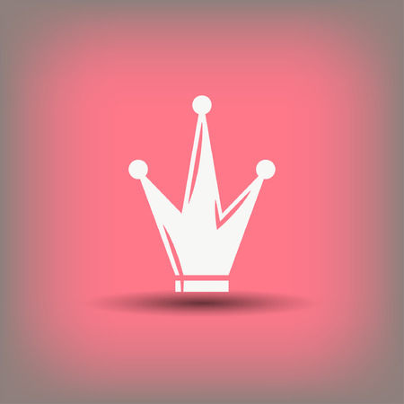 the aristocracy: Pictograph of crown. Vector concept illustration for design.