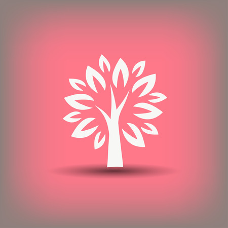Pictograph of tree. Vector concept illustration for design. Иллюстрация