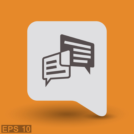 communicate  isolated: Pictograph of message or chat. Vector concept illustration for design. Illustration
