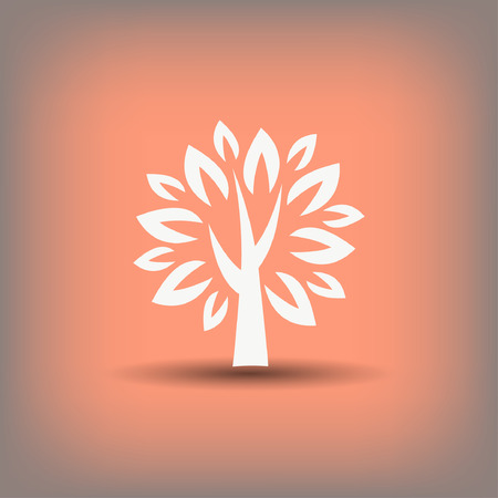 Pictograph of tree. Vector concept illustration for design. Eps 10