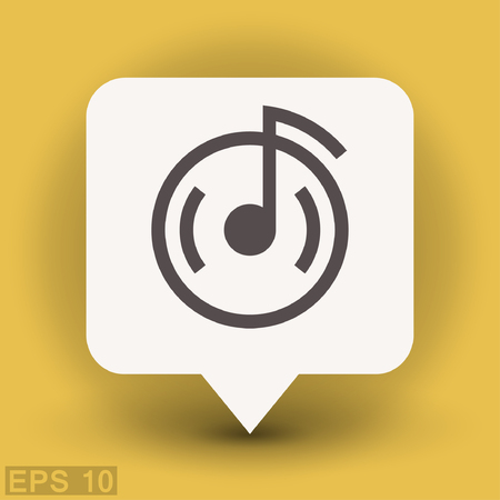 cd label: Pictograph of music note. Vector concept illustration for design.